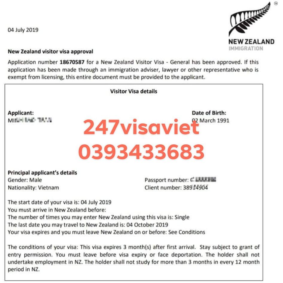 CÁC CHI PHÍ XIN VISA DU LỊCH NEW ZEALAND TỰ TÚC